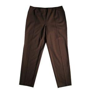J. JILL Slim Leg Ankle Pants L Stretch Ponte Knit